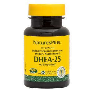 ДГЭА-25 с биоперином, DHEA-25 With Bioperine, Nature's Plus, 60 вегетарианских капсул