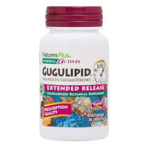 Гуггул, Gugulipid, Nature's Plus, 1000 мг, 30 таблеток