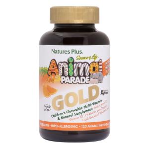 Витамины для детей, Animal Parade Gold, Nature's Plus, вкус апельсина, 120шт
