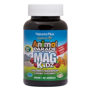 Магний для детей, Mag Kidz, Nature's Plus, вкус вишни, 90 жевательных таблеток