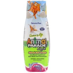 Витамины для детей, Animal Parade Liquid, Nature's Plus, 236,56 мл.