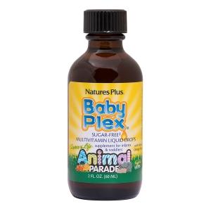 Витамины для  младенцев, Animal Parade, Baby Plex, Nature's Plus, 60 мл.