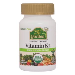 Витамин К2 (Source of Life, Garden, Vitamin K2), Nature's Plus, 60 капсул