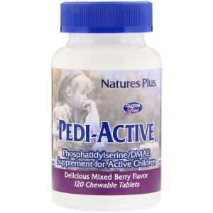 Фосфатидилсерин, Рedi-Active,  For Active Children, Nature's Plus, 120 таблеток