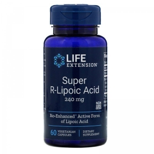 R липоевая кислота, Life Extension, 240 мг, 60 кап.