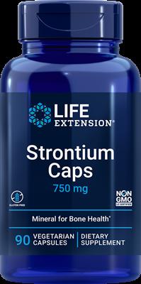 Стронций для здоровья костей, Life Extension, 750 мг, 90 кап.