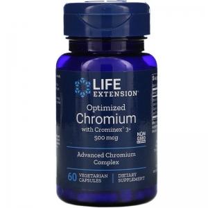Хром, Life Extension, 500 мкг, 60 капсул