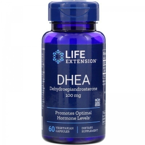 ДГЭА,  Life Extension, 100 мг, 60 капсул