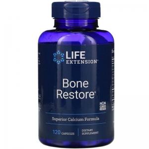 Восстановление костей, Bone Restore, Life Extension, 120 капсул