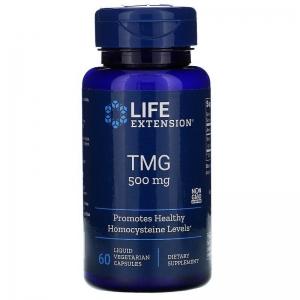 Триметилглицин, Life Extension, ТМГ, 500 мг, 60 капсул