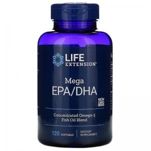 Рыбий жир EPA DHA, Omega Foundations, Life Extension, 120 капсул