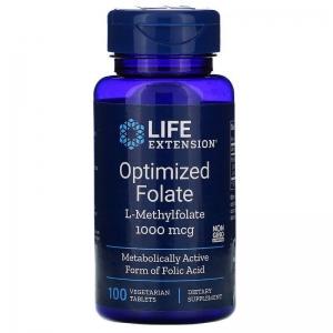 Фолат, Life Extensions, 1000 мкг, 100 таблеток