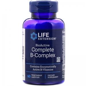 В-комплекс витаминов, BioActive B-Complex, Life Extension, биоактивный, 60 капсул