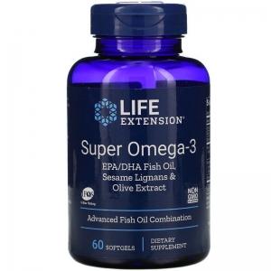 Омега-3 (супер), Life Extension, 120 капсул