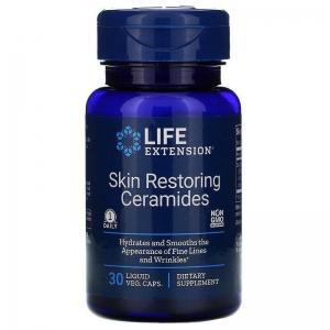 Восстановление кожи, Skin Restoring Ceramides, Life Extension, керамиды, 30 вегетарианских капсул