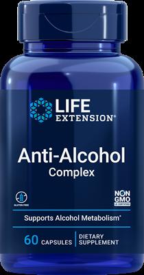 Антиалкогольный комплекс, Anti-Alcohol Complex, Life Extension, 60 вегетарианских капсул