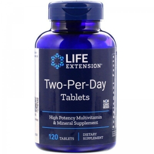 Мультивитамины, Two-Per-Day Tablets, Life Extension, 120 таб.