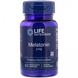 Мелатонин, Life Extension, 60 капсул