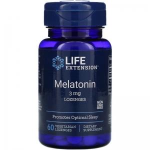 Мелатонин, Melatonin, Life Extension, 3 мг, 60 леденцов