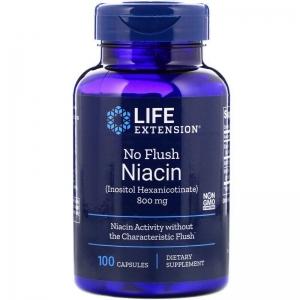 Витамин В3 (ниацин), Life Extension, 800 мг, 100 капсул
