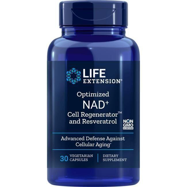 Никотинамид рибозид с ресвератролом, Optimized NAD+ Cell Regenerator, Life Extension, 30 капсул