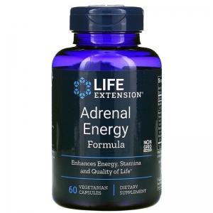 Поддержка надпочечников, Adrenal Energy Formula, Life Extension, 60 кап.