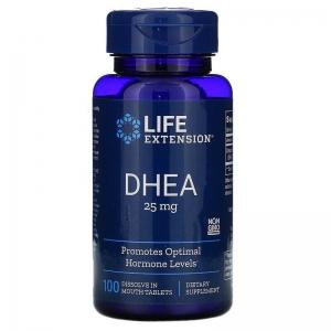 Дегидроэпиандростерон, Life Extension, 25 мг, 100 капсул