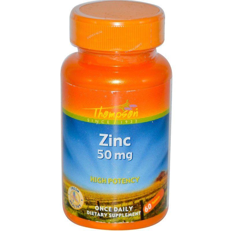 Цинк, Zinc, Thompson, 50 мг, 60 таблеток