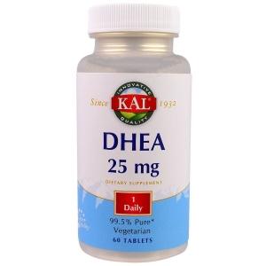 ДГЭА, DHEA, KAL, 25 мг, 60 таблеток