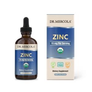 Цинк, Zinc, Dr. Mercola, 15 мг, 115 мл