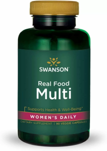 Мультивитамины для женщин на каждый день, Ultra Real Food Multi, Swanson, 90 вегетарианских капсул