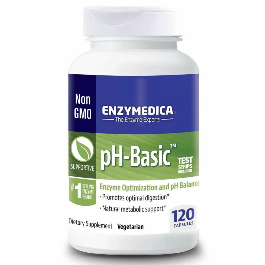 Ферменты  рН баланс, pH-Basic, Enzymedica, 120 капсул