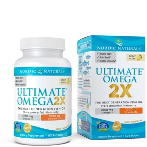 Рыбий жир, Ultimate Omega 2X, Nordic Naturals, лимон, 2150 мг, 60 гелевых капсул