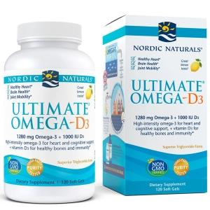 Рыбий жир омега-Д3 (лимон), Nordic Naturals, 1000 мг, 120 кап.