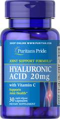 Гиалуроновая кислота, Hyaluronic Acid, Puritan's Pride, 20 мг