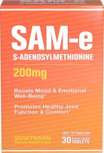 S-Аденозилметионин, SAM-e, Puritan's Pride, 200 мг, 30 таблеток