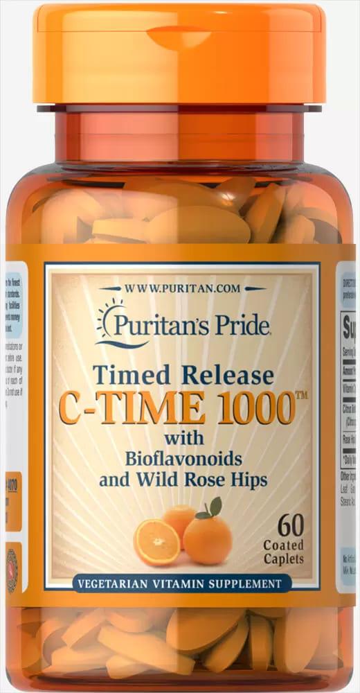 Витамин С с шиповником, Vitamin C, Puritan's Pride, 1000 мг, 60 капсул