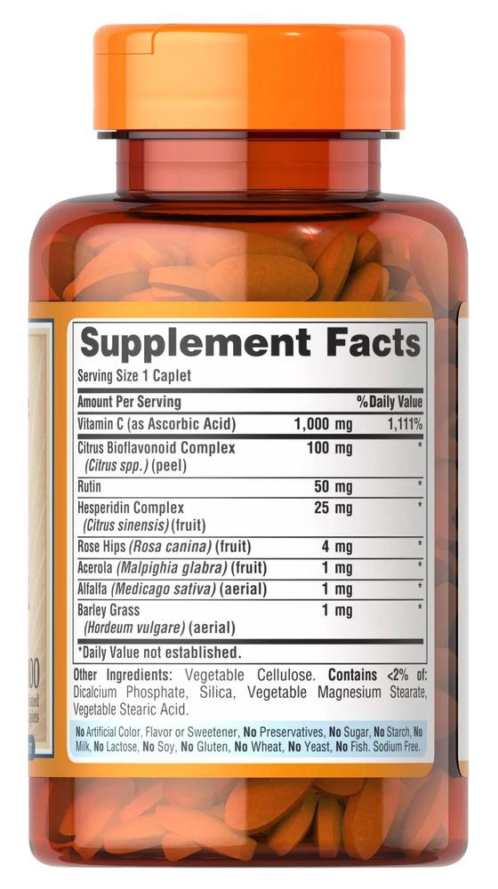 Витамин С комплекс, C-1000 Complex, Puritan's Pride, 100 капсул