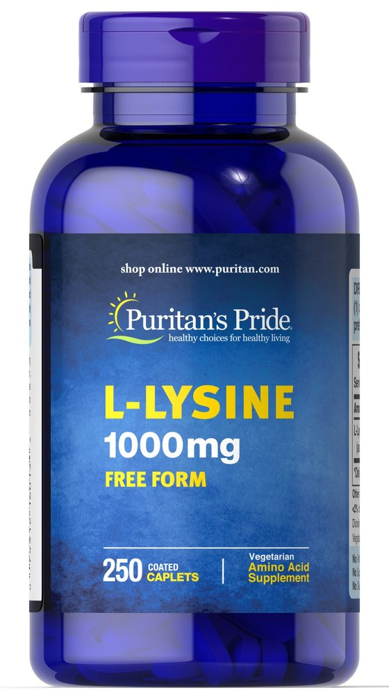 Л-лизин, L-Lysine, Puritan's Pride, 1000 мг, 250 капсул