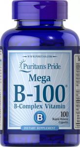 Комплекс витаминов группы В, Vitamin B-100 Complex, Puritan's Pride, 100 капсул
