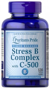 Комплекс В - стресс с витамином С, Stress Vitamin B-Complex, Puritan's Pride, 120 капсул