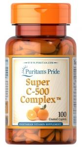 Витамин С комплекс, Super C-500 Complex, Puritan's Pride, 100  капсул