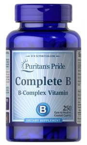 Комплекс витаминов группы В, Complete B, Puritan's Pride, 250 капсул