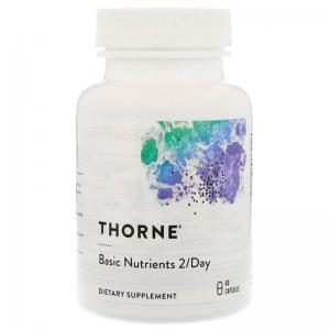 Мультивитамины без железа, Thorne Research, 60 капсул