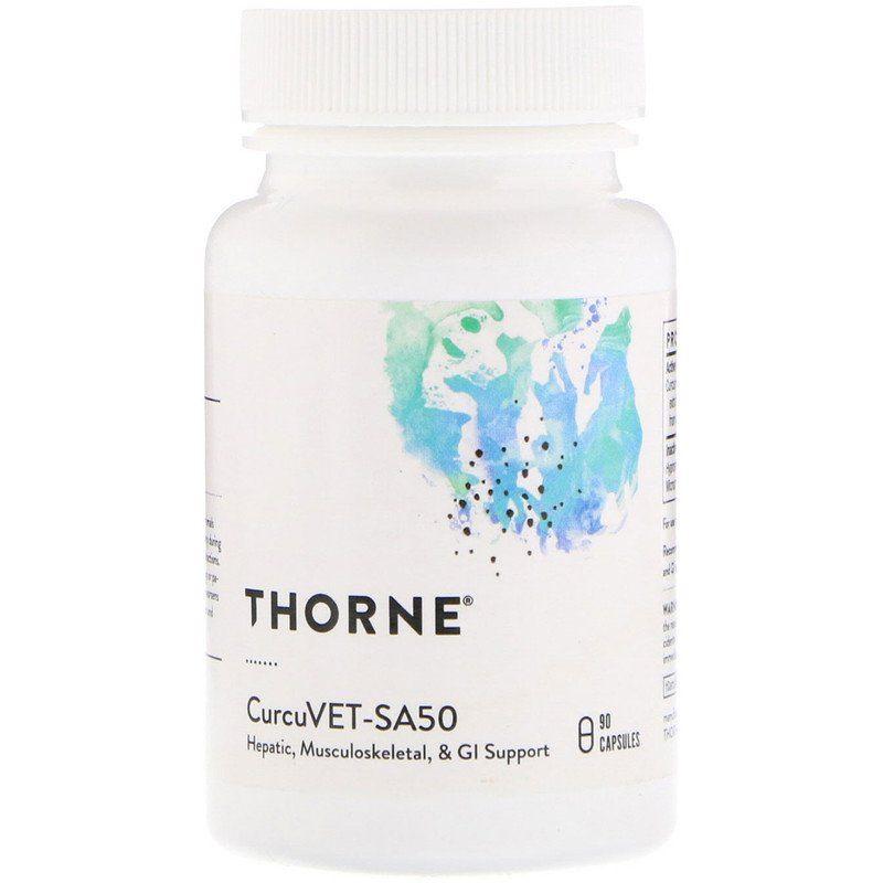 Куркумин для животных, CurcuVET-SA50, Thorne Research, 90 капсул