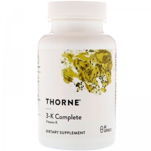 Витамин 3-К, 3-K Complete, Thorne Research, 60 капсул