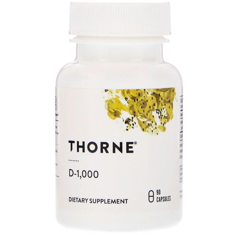 Витамин Д-1000, Thorne Research, 90 кап.