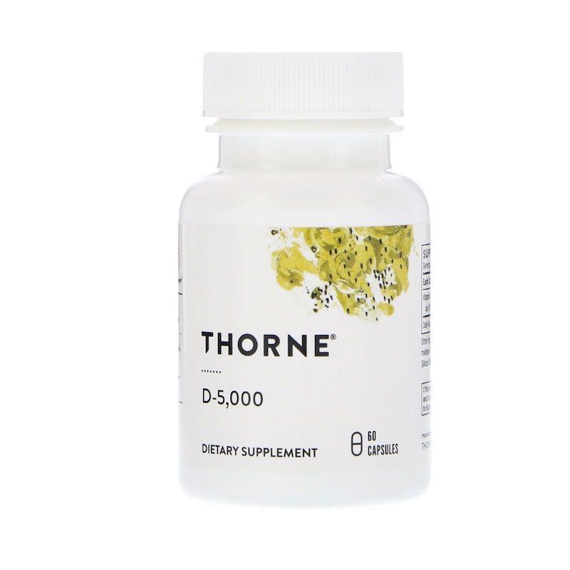 Витамин Д-3, 5 000, Thorne Research, 60 кап.