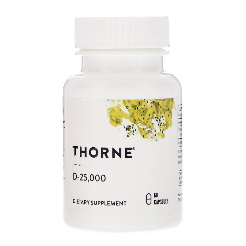 Витамин Д-25 000, Thorne Research, 60 кап.