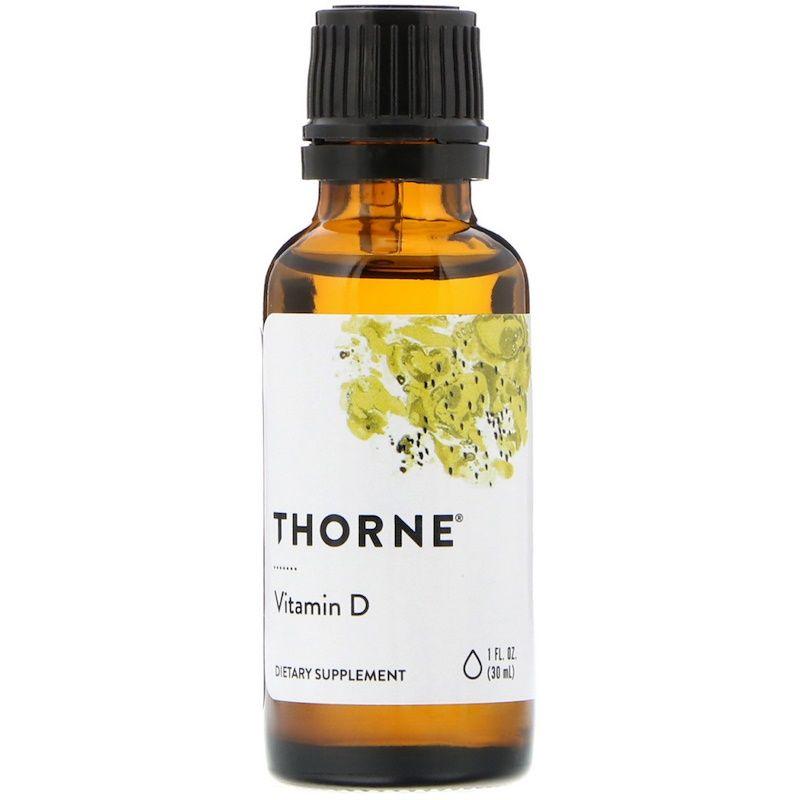 Витамин Д, Thorne Research, 30 мл.